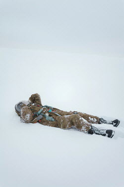 Inna Mosina ASTRONAUT LYING IN THE SNOW Men