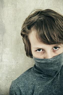 Katya Evdokimova BOY WEARING POLO NECK JUMPER Children
