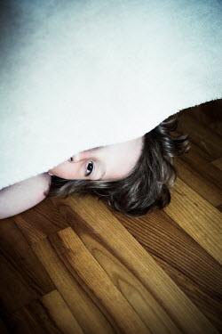 Katya Evdokimova GIRL HIDING UNDER BED Children