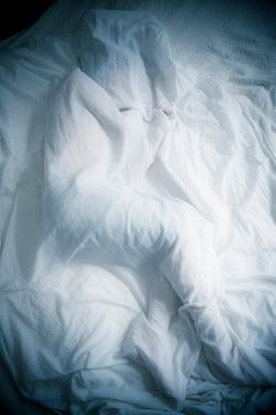 Katya Evdokimova person lying under sheet Children