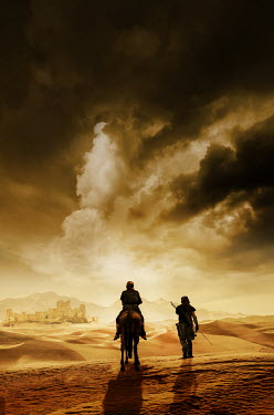 Stephen Mulcahey A silhouette of two warriors on a quest