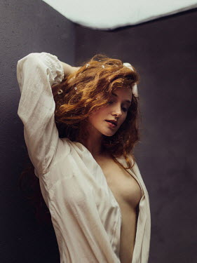 Ihor Ustynskyi SEXY WOMAN IN OPEN WHITE SHIRT Women