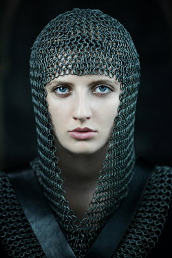 Magdalena Russocka close up of historical woman in chainmail insiade
