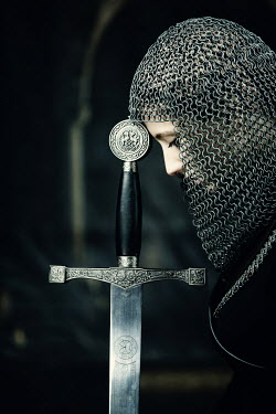 Magdalena Russocka HISTORICAL WOMAN IN CHAINMAIL WITH SWORD Women