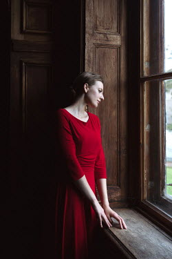 Dorota Gorecka WOMAN LOOKING OUT WINDOW Women