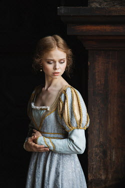 Dorota Gorecka WORRIED HISTORICAL WOMAN IN EMBROIDERED DRESS Women