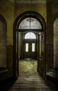 Jaroslaw Blaminsky HALLWAY OF OLD DESERTED BUILDING Interiors/Rooms