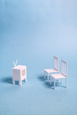 Peter Chadwick MODELS OF TWO CHAIRS AND TELEVISION Miscellaneous Objects
