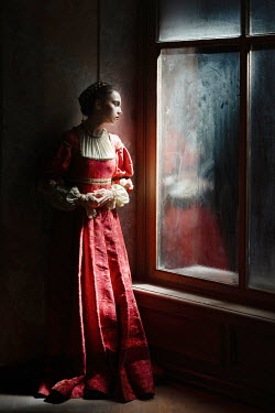 Dorota Gorecka HISTORICAL WOMAN BY WINDOW AT NIGHT Women