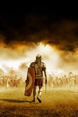 Stephen Mulcahey ROMAN SOLDIER AND ARMY ON BATTLEFIELD Men