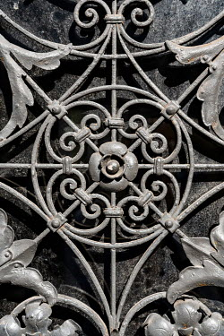 Jaroslaw Blaminsky CLOSE UP OF ORNATE METAL DECORATION Building Detail
