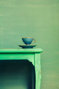 Mohamad Itani Tea cup and saucer on green table Miscellaneous Objects