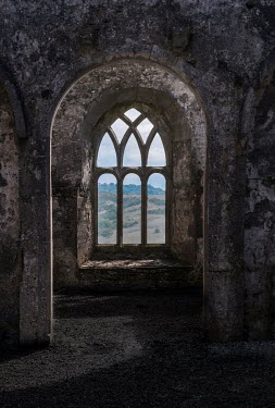 Jaroslaw Blaminsky ARCHED WINDOW AND INTERIOR OF CASTLE Miscellaneous Buildings