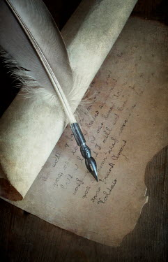 Jaroslaw Blaminsky QUILL AND PARCHMENT LETTER Miscellaneous Objects