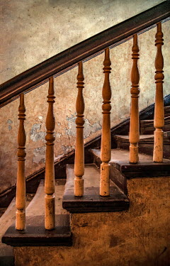 Jaroslaw Blaminsky CLOSE UP OF OLD WOODEN STAIRCASE Stairs/Steps