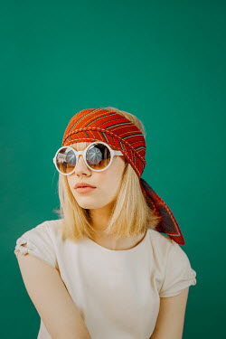 Shelley Richmond 1960S GIRL WITH HEADSCARF AND SUNGLASSES Women