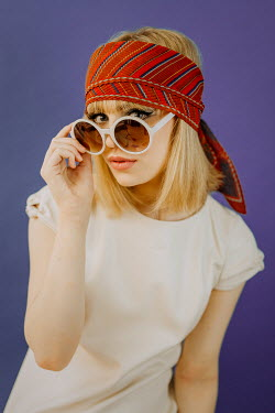 Shelley Richmond 1960S WOMAN WITH SUNGLASSES AND HEADSCARF Women