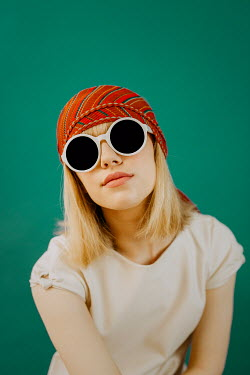 Shelley Richmond 1960S GIRL WITH SUNGLASSES AND HEADSCARF Women