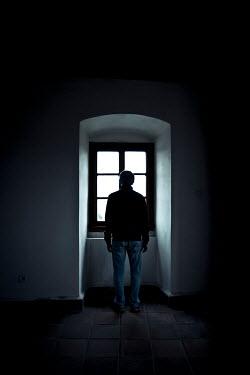 Valentino Sani MAN WATCHING AT WINDOW FROM BEHIND Men