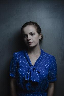 Robin Macmillan women wearing blue polka dot Women