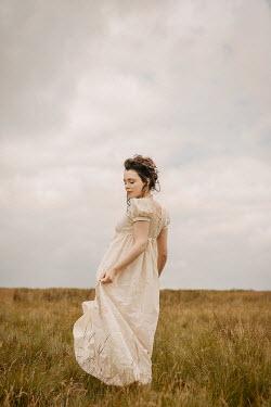 Shelley Richmond REGENCY WOMAN IN WHITE IN COUNTRYSIDE Women