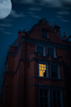 Ildiko Neer Man in window of house at night