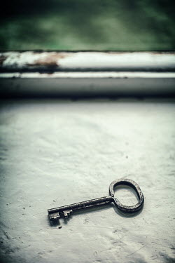 Magdalena Russocka old key lying on windowsill