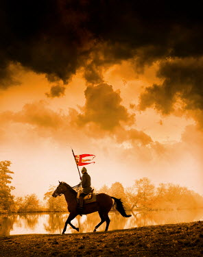 Stephen Mulcahey silhouette of a  medieval knight on horseback