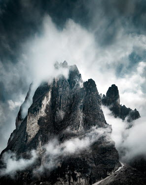 Kyle Stubbs Cloud covering mountain Rocks/Mountains