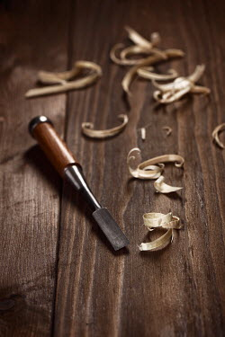 Alex Maxim Chisel and wood shavings