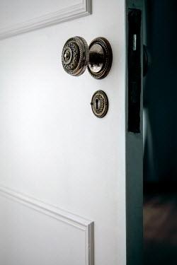 Miguel Sobreira CLOSE UP OF OPEN DOOR IN HOUSE Building Detail