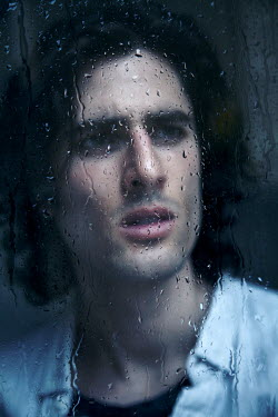 Miguel Sobreira MAN WATCHING BEHIND WET WINDOW Men