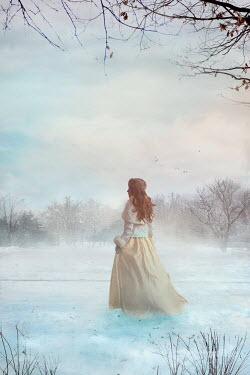Drunaa HISTORICAL WOMAN IN SNOWY COUNTRYSIDE Women