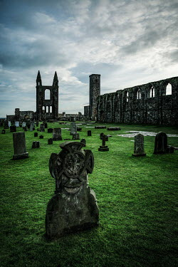 Evelina Kremsdorf Cemetery and ruins of St. Andrew's Cathedral in Scotland