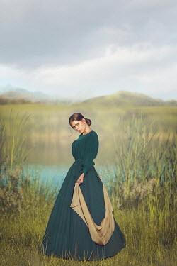 Joanna Czogala Young historical woman by lake Women