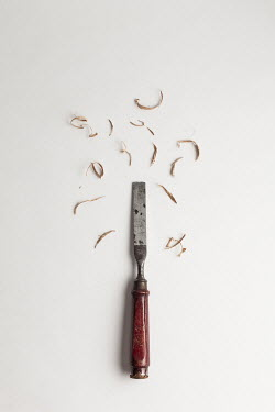 Paolo Martinez CHISEL WITH SHAVINGS OF WOOD FROM ABOVE Miscellaneous Objects