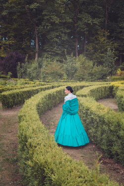 Joanna Czogala HISTORICAL WOMAN IN GARDEN MAZE Women