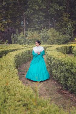 Joanna Czogala HISTORICAL WOMAN IN GARDEN MAZE Women