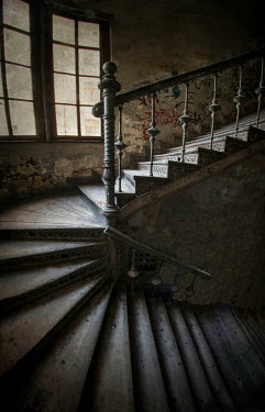 Jaroslaw Blaminsky INTERIOR OF OLD HOUSE WITH STAIRCASE Stairs/Steps
