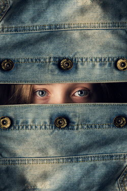Kelly Sillaste YOUNG GIRL COVERED WITH DENIM JACKET Women