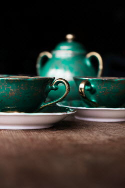 Maria Petkova CLOSE UP OF GREEN TEA SET Miscellaneous Objects