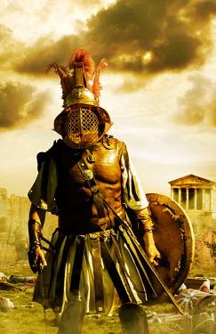Stephen Mulcahey ROMAN GLADIATOR IN ROMAN FIGHT Men