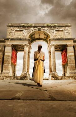 Stephen Mulcahey ROMAN PRINCESS UNDERNEATH ANCIENT ARCHWAY Women