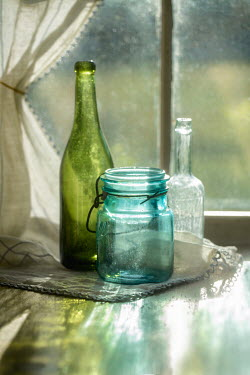 Michael Nelson Bottles and jar by window