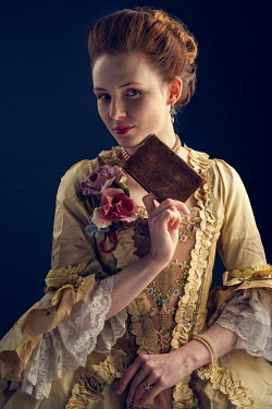 Laurence Winram Young woman in Georgian gown with book