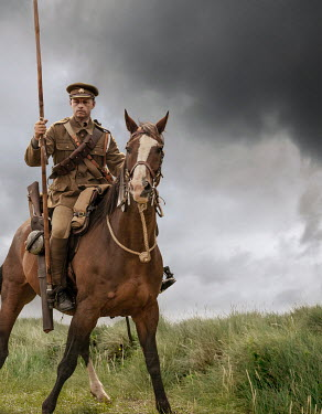 Stephen Mulcahey A british ww1 soldier on horseback Men