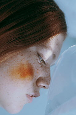 Michelle De Rose Profile of teenage girl with freckles