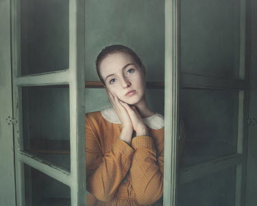 Anna Buczek Young woman inside glass cabinet