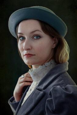 Jaroslaw Blaminsky CLOSE UP OF HISTORICAL WOMAN IN HAT Women