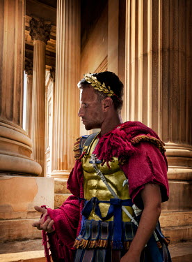 CollaborationJS ROMAN EMPEROR STANDING BY GRAND PILLARS Men